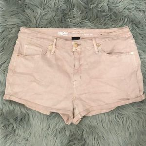Mossimo pink stretchy high rise denim shorts
